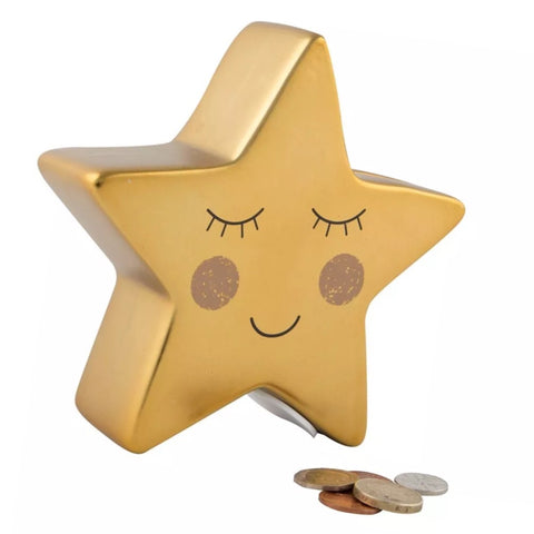 Gold Star Money Box