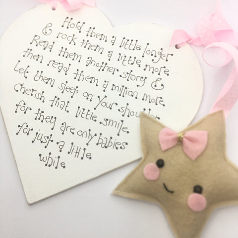 """Let Them Be Little"" Wooden Heart Sign"
