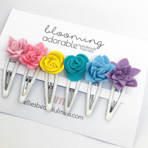 Blooming Adorable Flower Hair Clips