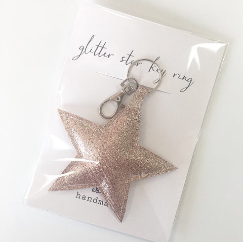Glitter Star Key Ring Charms