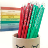 """Thank You For Helping Me Grow"" Teacher Pencils"