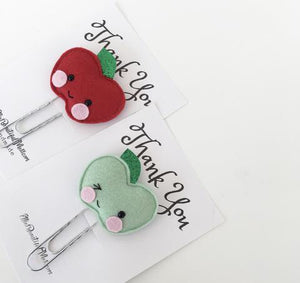Apple Paperclip Bookmark