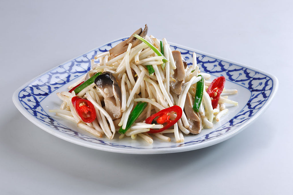 Stir-Fried Beansprout with Mushroom