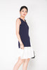 Chiffon Hem Dress - Navy