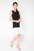 Chiffon Hem Dress - Black