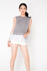 2 Piece Knit Top - Grey