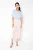 Buckle Culottes Pants - Blush