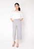 Buckle Culottes Pants - Grey