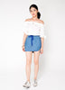 Denim Banded Skirt