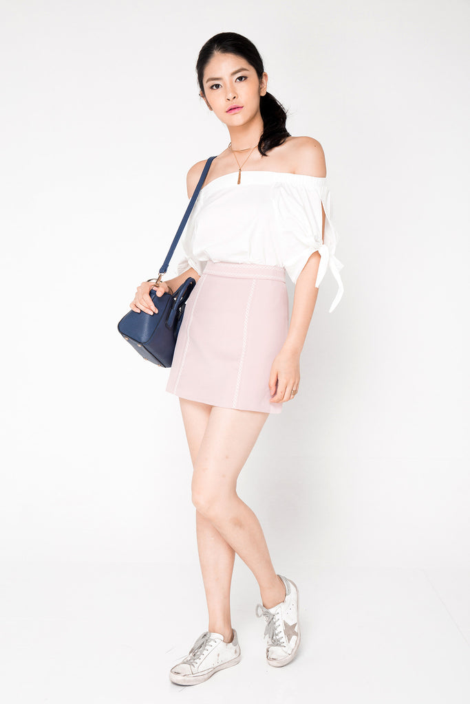 Embroided Skirt - Pink