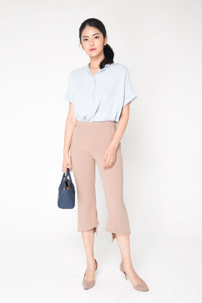 Highwaist Bell Pants - Nude