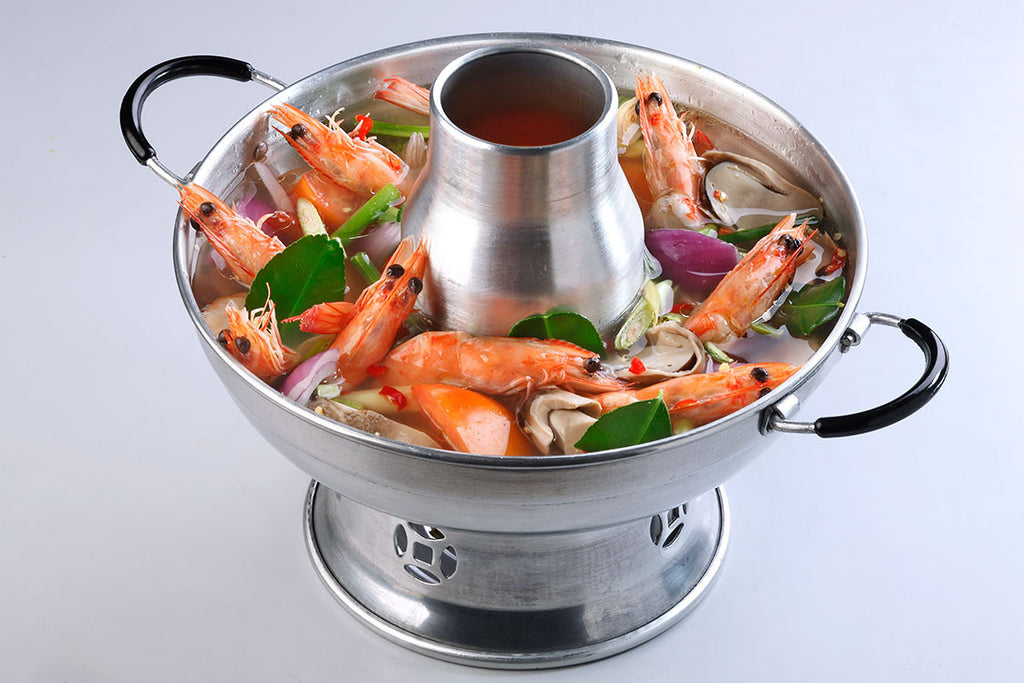 Tom Yum Soup Hotpot (Clear) With Prawn