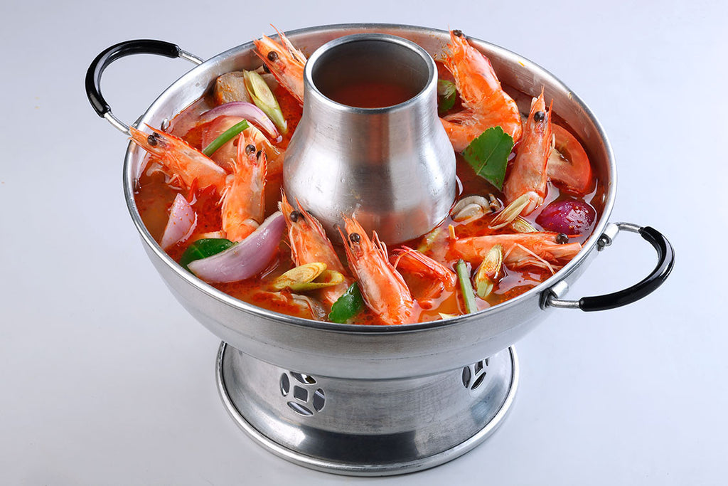 Tom Yum Soup Hotpot (Red) With Prawn