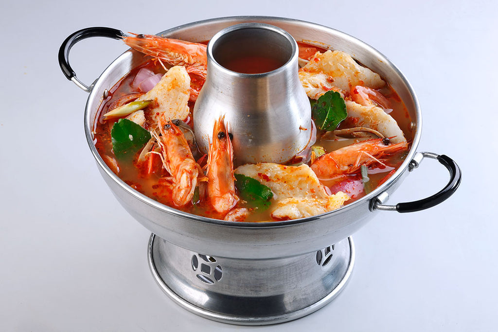 Tom Yum Soup Hotpot (Red) With Seafood