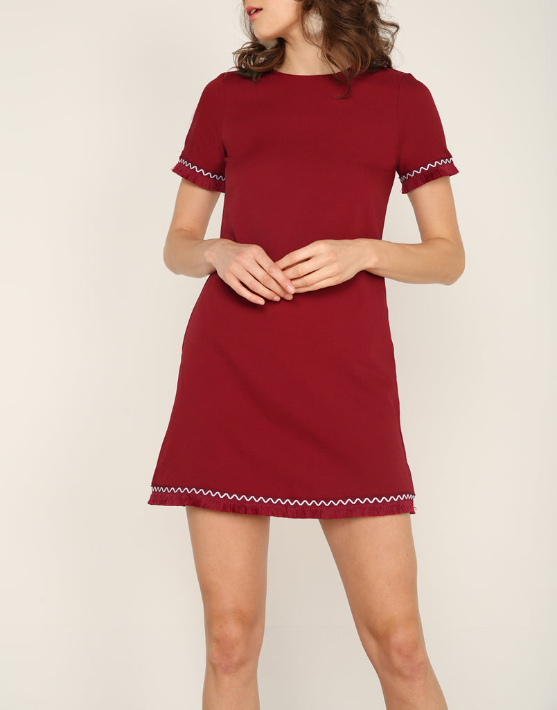 Tassel Trim Shift Dress