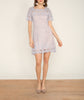 Full Crochet Lace Dress Grey