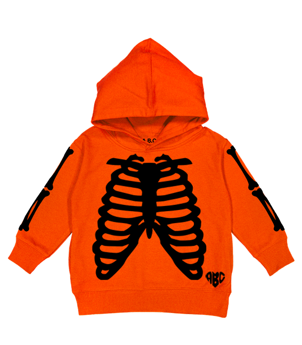 X-RAY HOODY (ORANGE/BLACK)