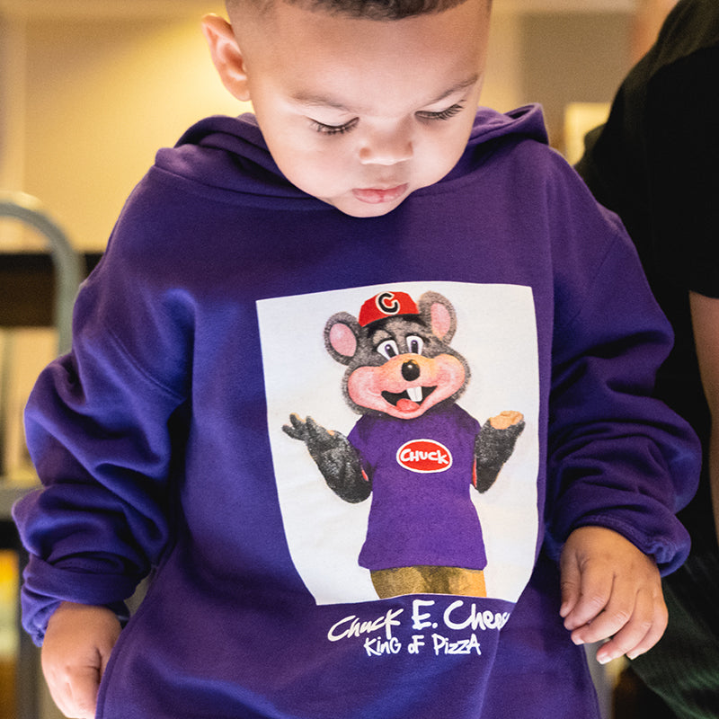 CHUCK E. CHEESE® PIZZA KING  HOODY(PURPLE)