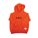 RUBBER STAMP HOODIE (ORANGE)