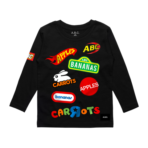 A.B.C. - R - US LONG SLEEVE (BLACK)