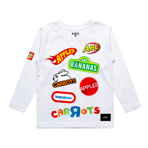 A.B.C. - R - US LONG SLEEVE (WHITE)