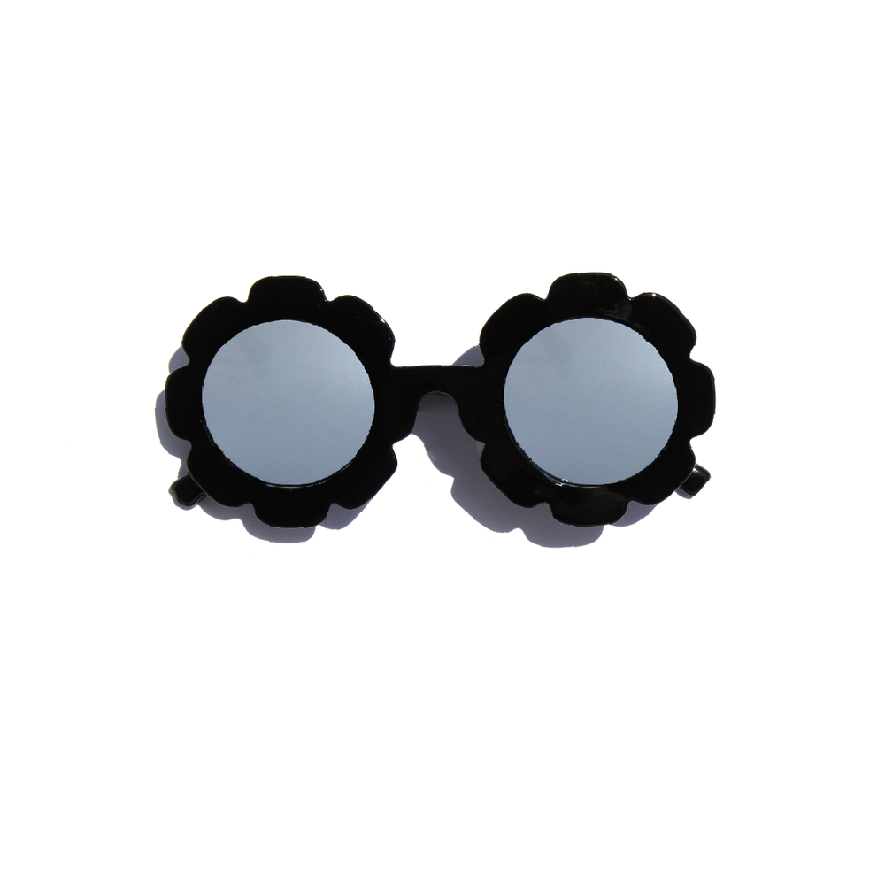 FLOWER CHILD SUNGLASSES (BLACK)