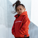 RAISED BY WOMEN HOODIE (RED)