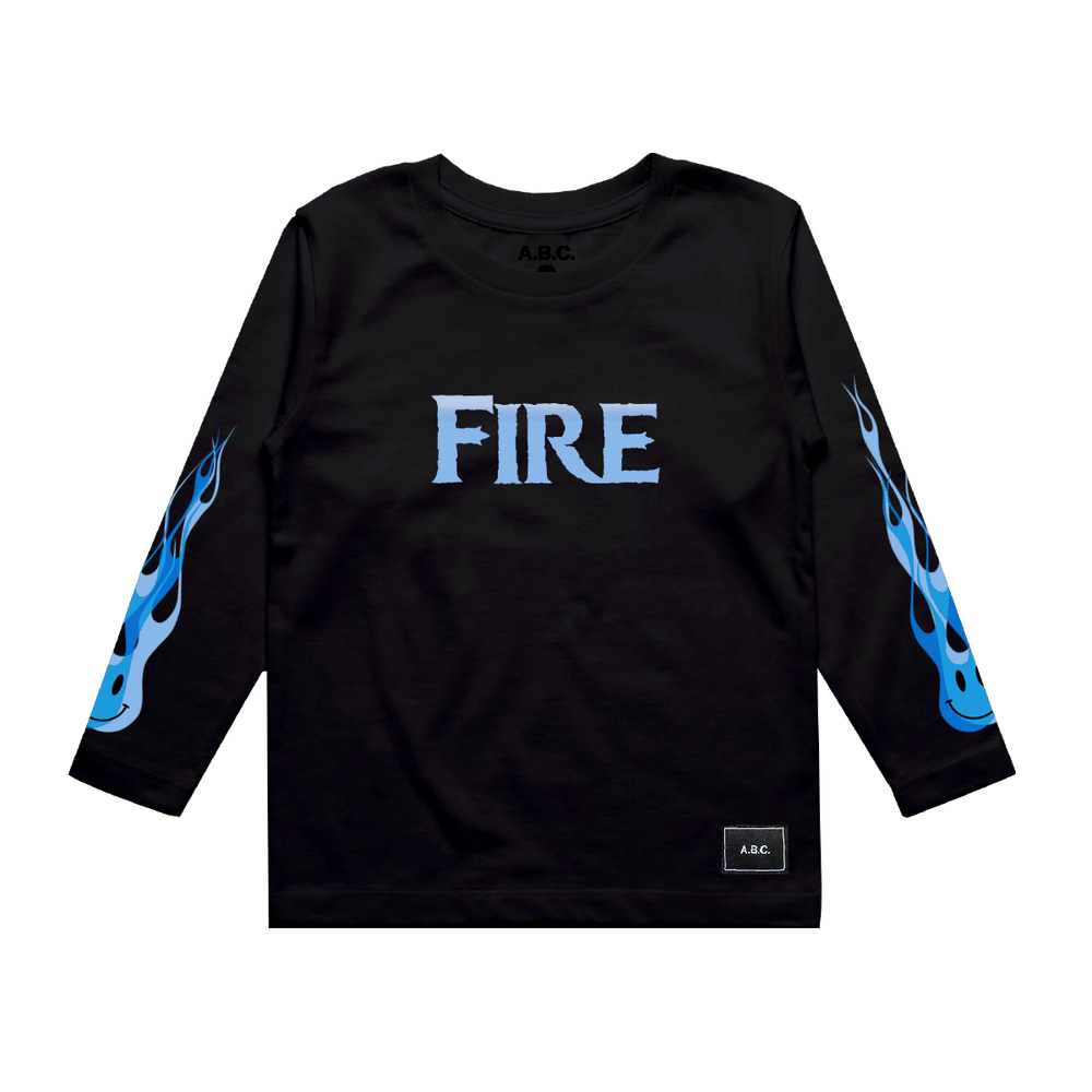 FIRE LONG SLEEVE (BLACK)