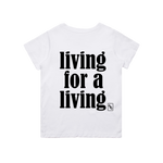 BUSY LIVING TEE (WHITE)