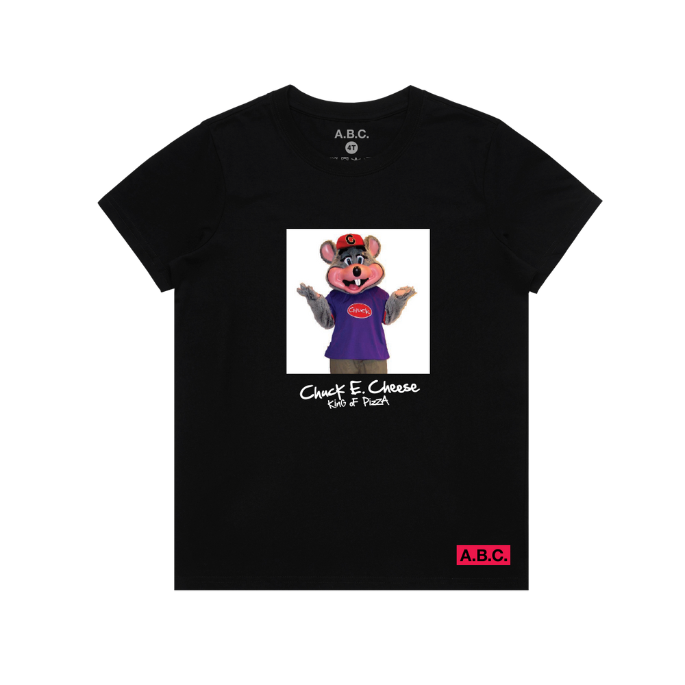 CHUCK E. CHEESE® PIZZA KING TEE (BLACK)