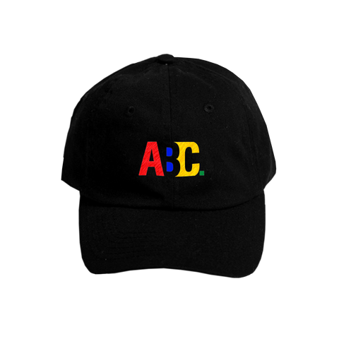 ABC -XYZ DAD HAT (BLACK)