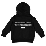 RAISED BY WOMEN HOODIE (BLACK)