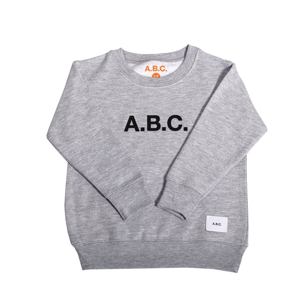 RUBBER STAMP CREWNECK (GREY)