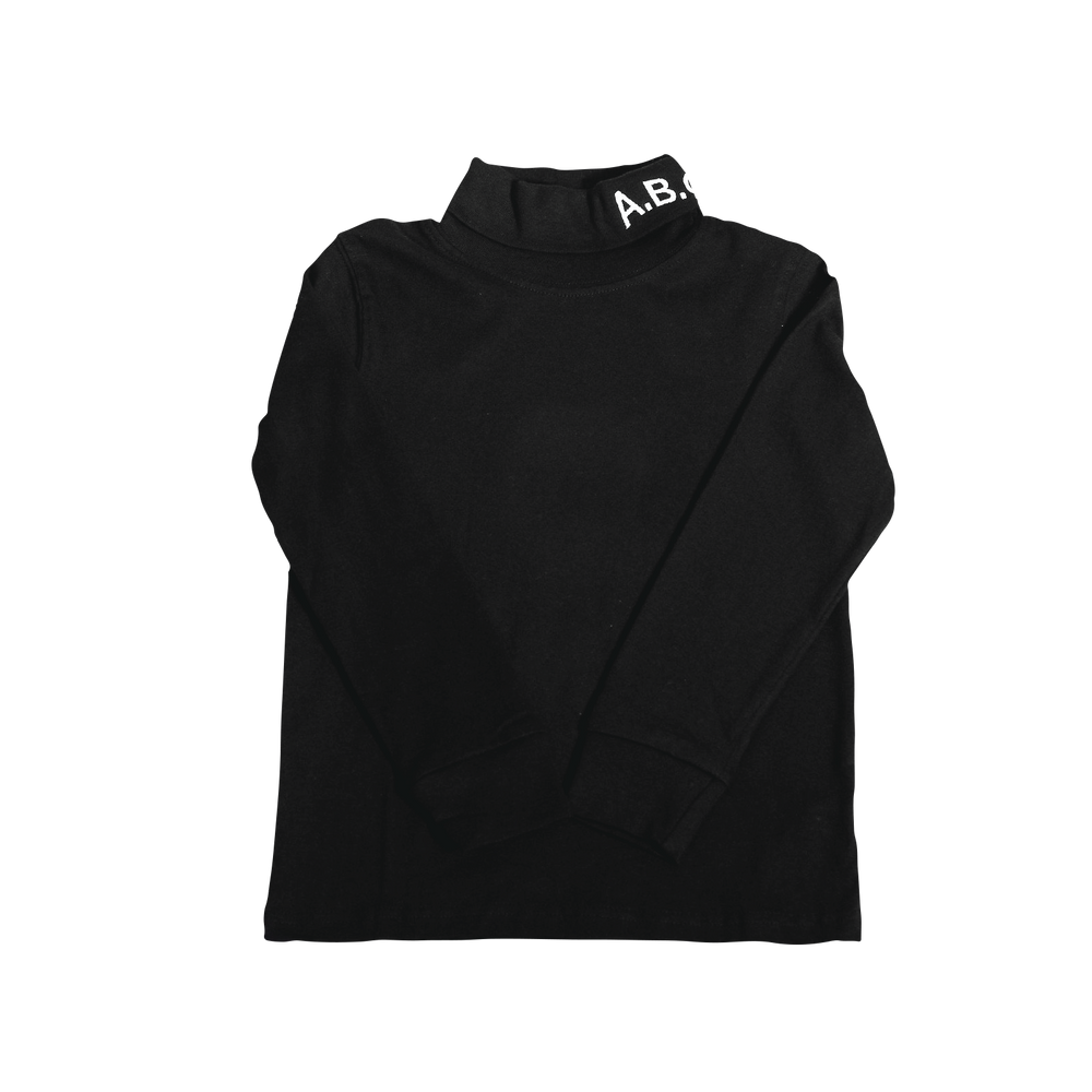 WAVY TURTLENECK (BLACK)