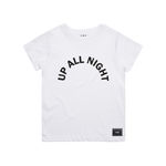 UP ALL NIGHT TEE (WHITE)