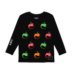 APPLES LONG SLEEVE (BLACK)