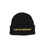 LET'S BUILD BEANIE (BLACK)