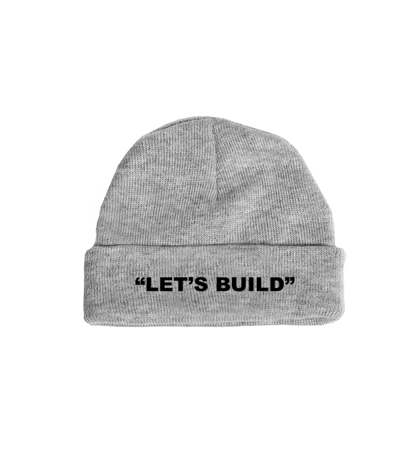LET'S BUILD BEANIE (GREY)