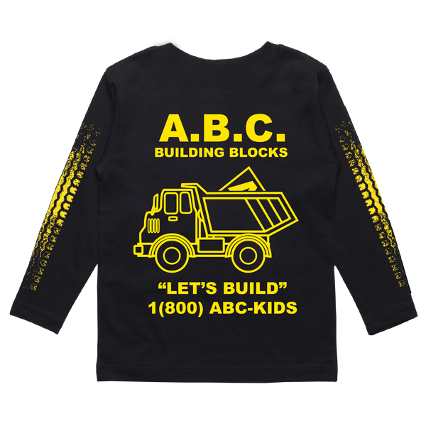 LET'S BUILD LONG SLEEVE (BLACK)