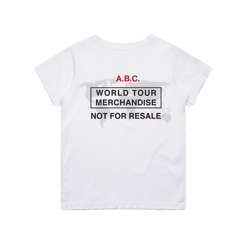 WORLD TOUR TEE (WHITE)