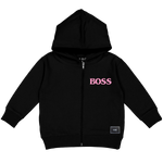 BOSS ZIP-UP HOODY (BLACK)