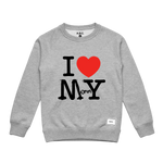 I LOVE MOMMY CREWNECK (GREY)