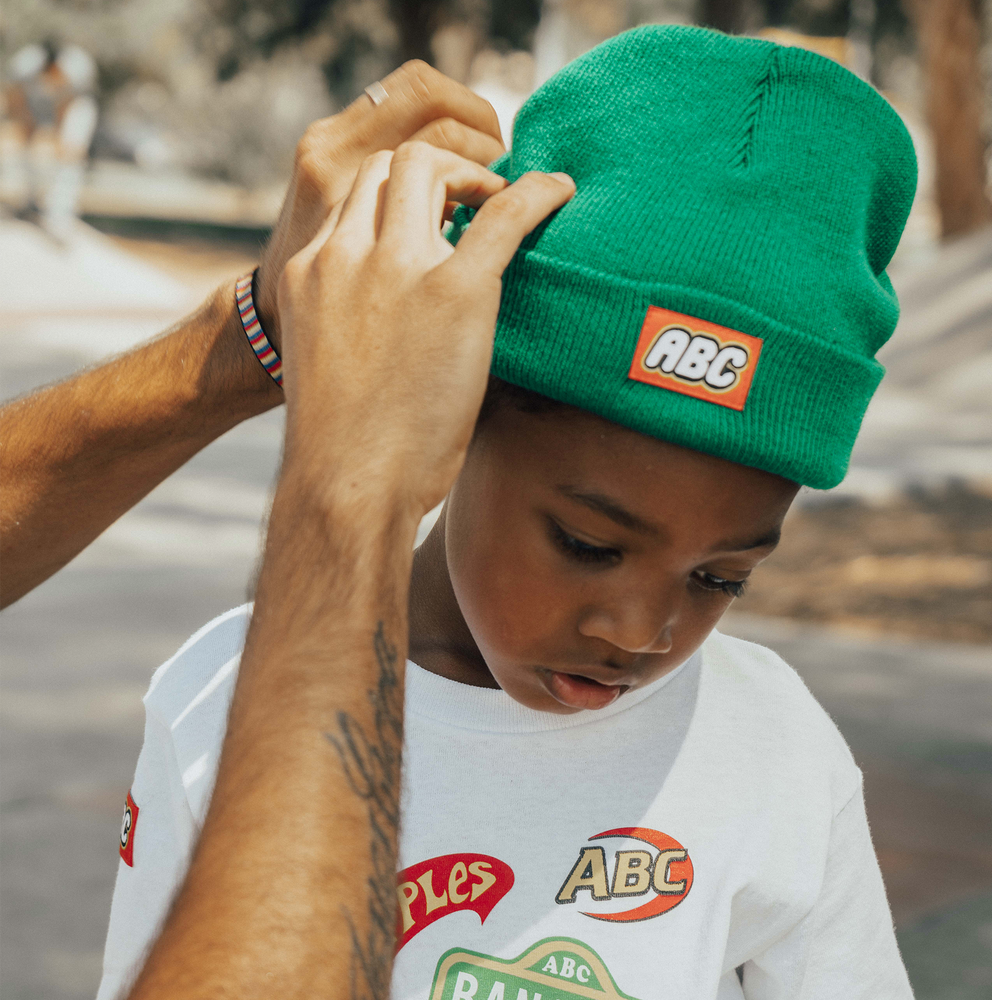 THE BLOCK IS HOT BEANIE (GREEN)