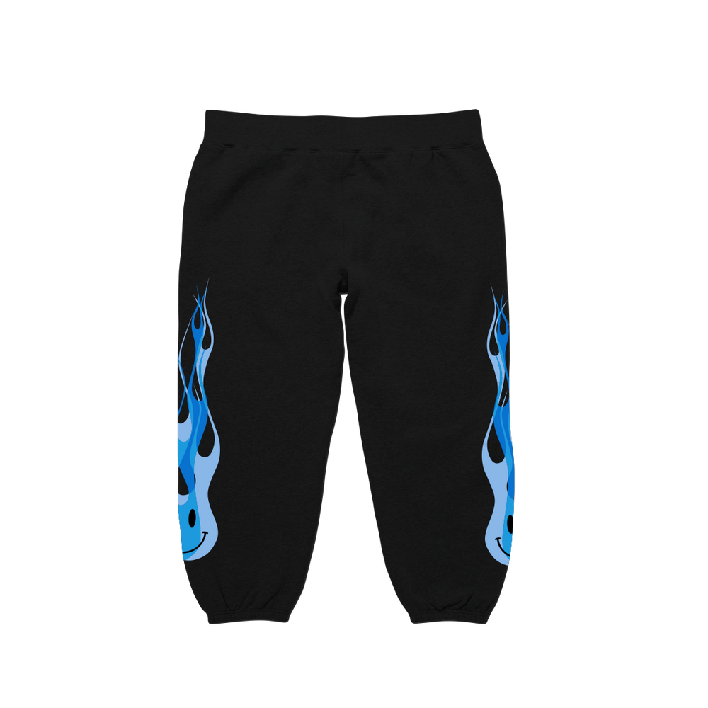 FIRE SWEAT PANTS (BLACK)