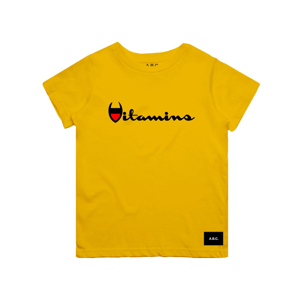 VITAMINS TEE (GOLDEN YELLOW)