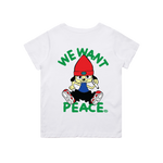 WE WANT PEACE T-SHIRT (WHITE)