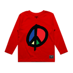 WE WANT PEACE LONG SLEEVE (RED)