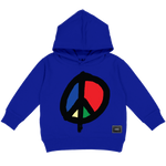 WE WANT PEACE HOODY (ROYAL)