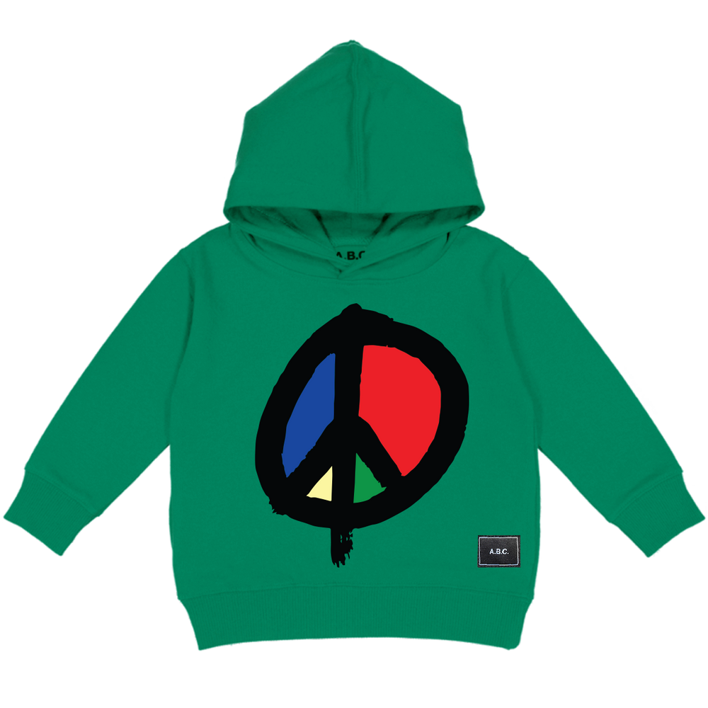 WE WANT PEACE HOODY (GREEN)