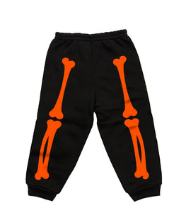 X-RAY SWEATPANTS (BLACK/ORANGE)
